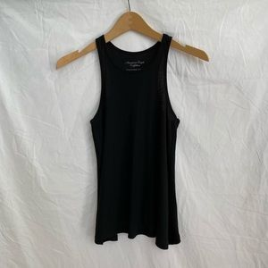 American Eagle Black Relaxed Fit Tank Top